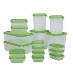 IKEA PRUTA - box tempat Makanan food container set isi 17