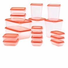 Toko Ikea Pruta Food Container Kotak Makanan Orange 17 Pcs Termurah