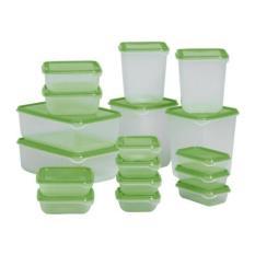 IKEA PRUTA Set 17 Tempat Penyimpanan Makanan / Toples Makanan