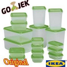 Ikea Pruta Set 17Pcs Ori/Toples/Tempat Penyimpanan Makanan - Bkw0z8