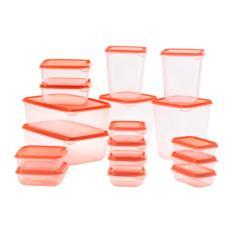 Ikea Pruta Tempat Makanan Set Isi 17 - Orange