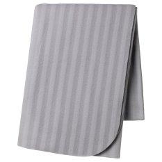 Ikea Vitmossa Selimut Fleece Motif Garis - Abu