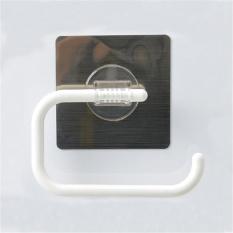 Inchant Kertas Toilet Roll Holder Self Adhesive, WALL MOUNT, Tidak Ada Sekrup, Tidak Ada Bor, Bisa Dicuci, Restickable, Reusable Plastik Towel Ring dengan Open Setengah Desain-Dish Cloth, Teh Handuk Hanger Rak-Internasional