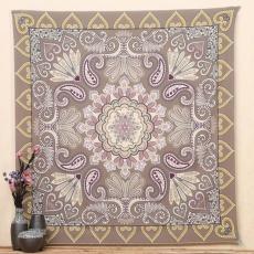 Indian Mandala Permadani Hippie Wall Hanging Floral Bedspread Throw Tikar Yoga-Internasional