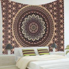 Ombre India Mandala Hippie Emas Hitam Dinding Gantungan Tapestry Bedspread Dekorasi-Internasional
