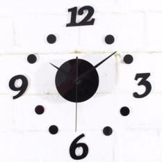 Jam Dinding DIY Acrylic Diameter 30-50cm Wall Clock Giant Unik Hiasan Dekorasi Interior Rumah Manual Silent Sweeping Movement Tidak Bersuara Penghias Tembok Ruangan Besar AA Battery Water and Steam Resistant Awet - Hitam   Lazpedia