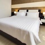 Jual Indolinen Duvet Cover 240X230Cm 100 Cotton Tc 300 Stripe 3Cm White Antik