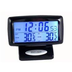Indoor Outdoor Thermometer Dual Sensor Waktu Jam LCD Display Night Vision Backlight Digital Jam Weker untuk Rumah Mobil