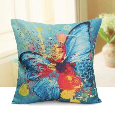 Toko Lukisan These Butterflies Bantal Penutup Sofa Tinta Katun Linen Bantal Dekorasi Rumah Internasional Online Terpercaya