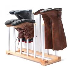 Innoka 6 Pasang Boot Rack Organizer, Berdiri Kayu & Aluminium Storage Holder Gantungan untuk Sepatu Bot Berkendara, Sepatu Bot Hujan, Sepatu-mudah Dirakit, Hemat Ruang, Tetap Boots Dalam Bentuk, Perlengkapan Rumah Tangga