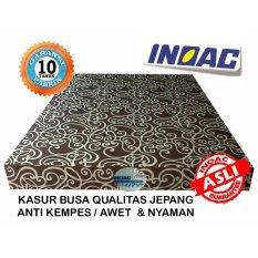 Inoac Kasur Busa Ukuran No. 1 (200x180x20cm) Motif Tralis Coklat
