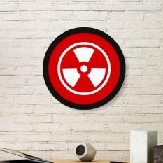 Ionisasi Radiasi Red Square Bentuk Cermat Peringatan Forbid Mark Bentuk Bundar Motif Gambar Stiker Dinding-Internasional