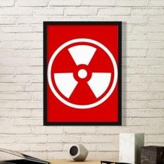 Ionisasi Radiasi Red Square Bentuk Cermat Peringatan Forbid Mark Ilustrasi Stiker Dinding Gambar Dekorasi Rumah Decal-Intl