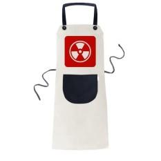 Ionisasi Radiasi Red Square Peringatan Mark Memasak Dapur Beige Adjustable Bib Apron Saku Women Pria Chef Hadiah-Intl