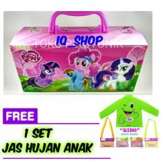 Beli Iq Tempat Kotak Pensil Karakter Kuda Poni Dengan Kode Free 1 Set Jas Hujan Anak Kido Di Dki Jakarta