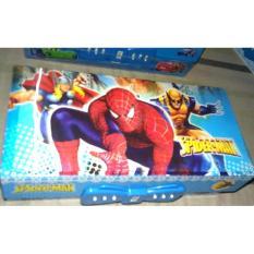 IQ -Tempat / Kotak Pensil Karakter SPIDERMAN Dengan Kode (COWOK)