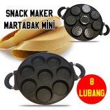 Spesifikasi Ismart Best Seller Cetakan Kue Snack Maker Pan 8 Lubang Datar Pancake Martabak Mini Hitam