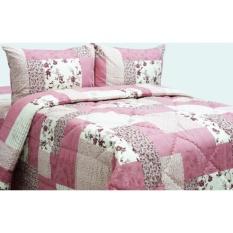 Istanaku Bedcover dan Sprei Uk.180x200 - Jonathan pink