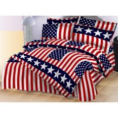 Spesifikasi Istanaku Sprei Uk 180X200 Bendera Usa Bagus
