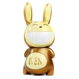 Iven Rabbit Home Decor Cute Tertawa Coin Saving Pot Kotak Uang Piggy Bank Gift Brown Intl Oem Diskon