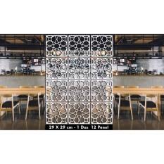 J-art - Screens & Room Dividers (Partisi Ruangan Gantung) 4 - Putih
