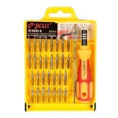 Harga Hemat Jackly 32 In 1 Precision Screwdriver Professional Repair Tool Kit Jk 6032A