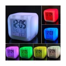 Moody Jam  Digital Alarm Unik Dengan 7 Warna Lampu Berubah