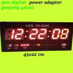 Jam Dinding Digital Jumbo 22X45 Cm Led Merah Promo Beli 1 Gratis 1