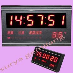 Jam Dinding Digital LED 3020 Digital Size Besar 29,5 cm x 19 cm  / LED Merah