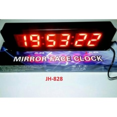 Review Jam Dinding Digital Jam Meja Mirror Face Clock Jh 828 Jam