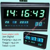 Jual Jam Dinding Meja Led 3020 Digital Size Besar 29 5 Cm X 19 Cm Led Hijau Satu Set