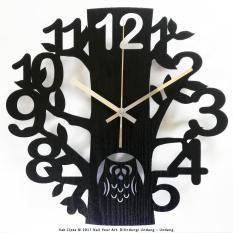 Jam Dinding Unik Artistik - Owl Wall Clock