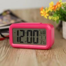 JAM MEJA DIGITAL ALARM SMART CLOCK LCD LED Light Thermometer Tanggal Kalender Jam Weker