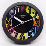 Jual Jam Meja Jam Dinding On Time Colourful Hitam Branded Original