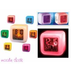 Jam Moody Kubus Dapat Berubah 7 Warna Moody Clock / Alarm Moody
