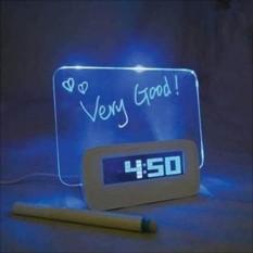 Jam Weker Meja LCD Display dilengkapi Alarm dan Memo Board