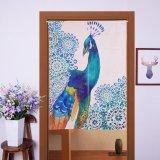 Jual Beli Jepang Noren Style Door Curtain 85X90 Cm Blue Peacock Di Tiongkok