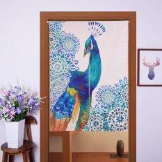 Harga Jepang Noren Style Door Curtain 85X90 Cm Blue Peacock Oem Asli