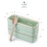 Spesifikasi Bergaya Jepang Microwave Lunch Box Cute Tiga Lapisan Siswa Lunch Box Kotak Dengan Tas Sub Box Intl Dan Harga