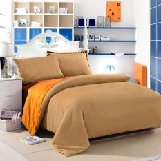 Jual Jaxine Bedcover Katun Prada Polos Orange Coklat Jaxine Online