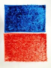 Spesifikasi Jaxine Keset Cendol Microfiber Metalic Anti Slip Warna Biru Orange Murah