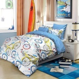 Jaxine Sprei Katun Motif Bicycle Murah