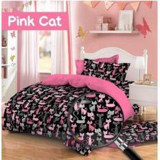 Jual Ht Sprei Katun Motif Katty Black Pink Toko H*t* Di Yogyakarta Murah