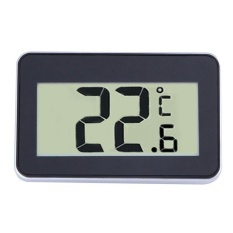 Jaxuzha KOBWA Ipx3 Waterproof Digital Layar LCD Besar Kulkas Freezer Room Thermometer Mudah Dibaca dengan Magnetic Back Hanging Hook -Intl