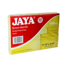 Beli Jaya Folio Envelope 240 X 350 Mm 80 Gsm Brown 100 Envelopes Pack 1 Pack Yang Bagus