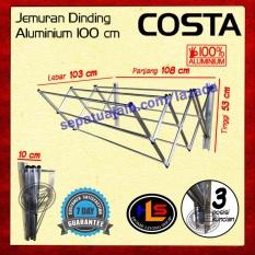 Jemuran Dinding Aluminium 100 cm / Jemuran Baju Murah / Gantungan Baju