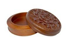 Jual Jepara Wooden Craft Candy Jar 02 Ukiran Kayu Jati