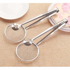 Jepitan Gorengan Dengan Tirisan Minyak 2 In 1 Stainless Steel Tebal Up Kitchen Tools Set Alat Dapur