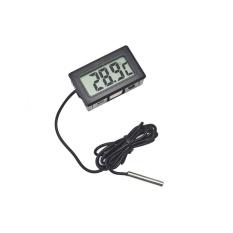 Jiaukon Chits® Probe Berkualitas Tinggi Eksternal Tertanam Digital LCD Display Mobil Kulkas Aquarium Fishtank Elektronik Termometer-Internasional