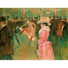 Jiekley Fine Art - Lukisan At the Moulin Rouge,The Dance Karya Henri de Toulouse Lautrec - 1890